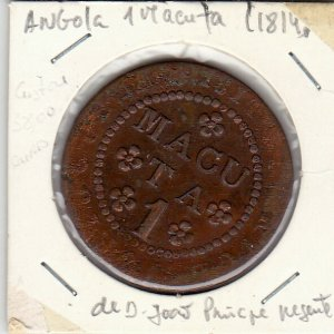 ANGOLA 1 MACUTA D. JOAO PRINCIPE REGENTE (1814)