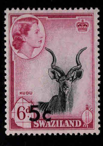 Swaziland Scott 74a Type 1 MH* stamp