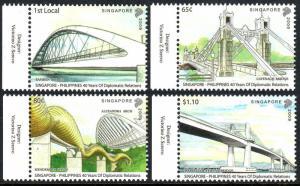 Singapore 1398-1401, MNH.Singapore Philippines,Diplomatic Relations.Bridges,2009