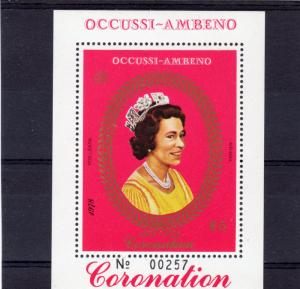 Timor (Ocussi-Ambeno) 1978 Coronation 25th.Anniv S/S (1) Perforated MNH
