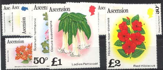 Ascension - 1981 Flowers Definitives Complete mint