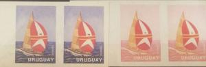 o) 1991 URUGUAY, PROOF-COLOR VARIETY IMPERFORATE, BOAT-REGATA WHITBREAD -AROUND