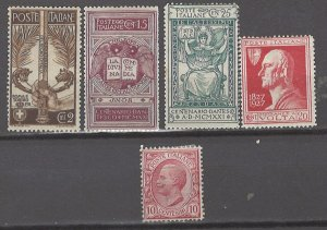 COLLECTION LOT # 5301 ITALY 5 MH STAMPS 1906+ CV+$21