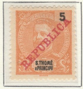 Portugal ST. THOMAS AND PRINCE ISLANDS 1911 5r MH* A5P55F4