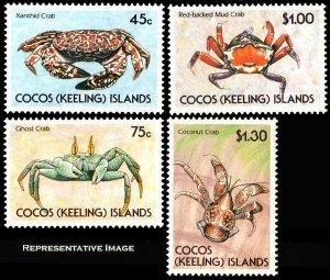 Cocos Islands Scott 212-215 Mint never hinged.