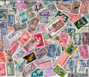 French Andorra Stamp Collection - 50 Different Stamps