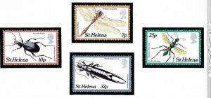 St Helena 364-67 MNH 1982 Insects