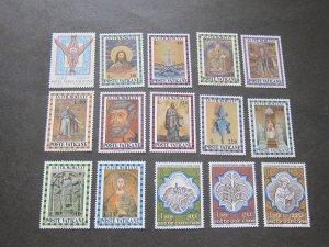 Vatican 1974 Sc C59,561-71,558-60 sets(3) MNH
