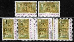 Andorra, Spanish #241 MNH Stamp - Christmas - Wholesale X 8