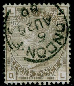SG154, 4d grey-brown plate 17, FINE USED, CDS. Cat £550. QL