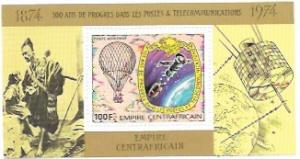 Central African Empire. MNH 100 years Telecommunications
