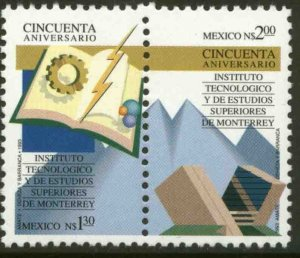 MEXICO 1827a, MONTERREY INSTITUTE OF TECHNOLOGY, 50th ANNIVERSARY. MINT, NH. VF
