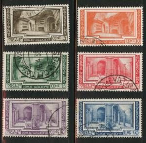 Vatican City Scott 55-60 Used 1938 set CV$57.45