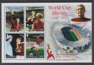 Gibraltar 908a Soccer Souvenir Sheet MNH VF