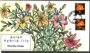 US Collins FDC SC#3457, 3479 Asian Hybrid Lily