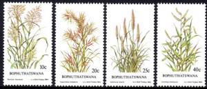 Bophuthatswana - 1984 Indigenous Grasses Set SG 116-119