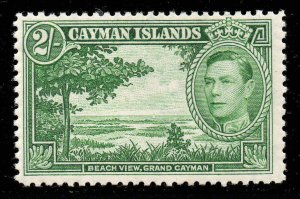 Cayman Islands 1938 KGVI 2/- yellow-green SG 124 mint