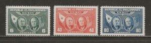 Philippines Scott catalog # C64-C66 Unused Hinged