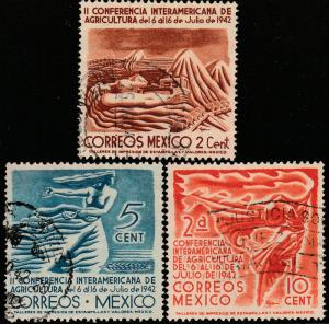 MEXICO 777-779 Agricultural Conference. Used. (160)