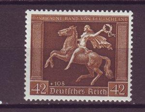 J25153 JLstamps 1938 nazi germany set of 1 mh #b119 horsewoman