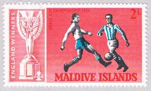 Maldive Islands 207 MNH Soccer 1967 (BP37714)