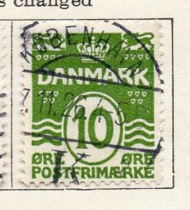 Denmark 1921 Early Issue Fine Used 10ore. 138183