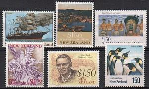 NEW ZEALAND 6 different $1.50 commems fine used............................79850