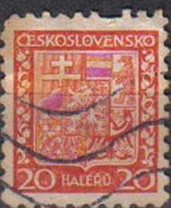 CZECHOSLOVAKIA, 1929 used 20h, National Arms