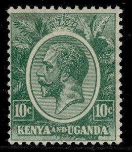 KENYA and UGANDA GV SG79, 10c green, LH MINT.