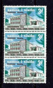 Samoa 243 Used 1965 strip of 3; wmk 355