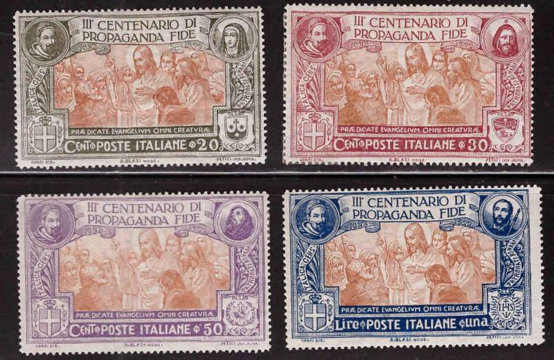Italy Scott 143-146 MH* 1923 Propagation of the Faith set