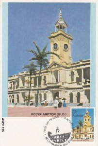 APF050) Maxicards Australia 1982, set of 7 featuring historic post offices in Au