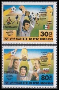 1982 Korea, North 2269-70 1982 World championship on football of Spain 5,00 €