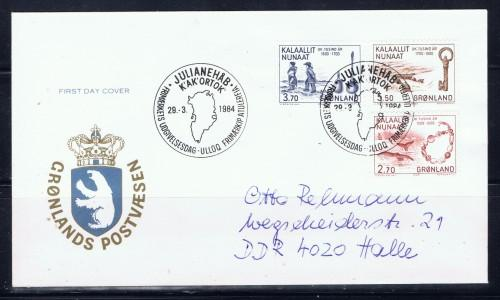 Greenland 1984 First Day Cover   #1