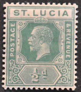 DYNAMITE Stamps: St. Lucia Scott #76 – MINT hr