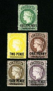St. Helena Stamps # 34-8 VF OG LH Scott Value $59.00