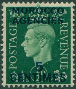 Morocco Agencies 1937 SG230 5c on ½d green KGVI MNG