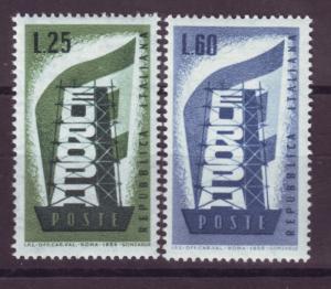 J17190 JLstamps 1956 italy set mh #715-6 europa