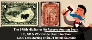 The 198th HipStamp No Reserve Auction Event