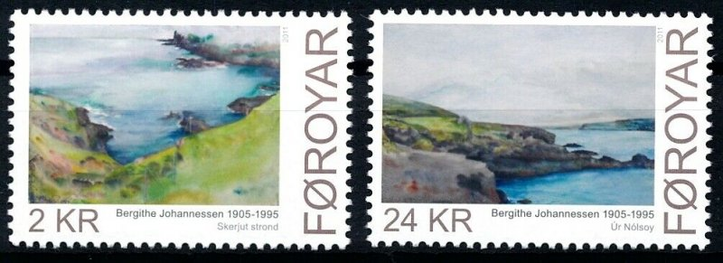 [I1815] Faroe 2011 Painting good set of stamps very fine MNH