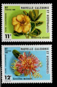 New Caledonia (NCE) Scott 453-454 MNH** Flower stamp set
