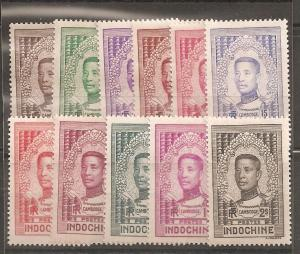 Indo China SC 182-92  Mint Hinged
