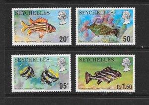 FISH - SEYCHELLES #313-16   MNH