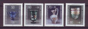 J24985 JLstamps 1986 germany berlin set mnh #9nb238-41 glassware