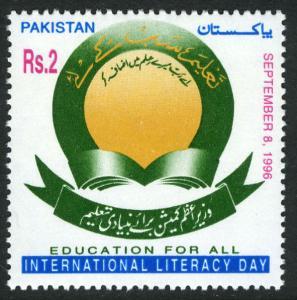 Pakistan 867, MNH. Intl. Literacy Day, 1996