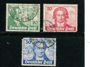 Berlin #9N61-63  used F-VF  - Lakeshore Philatelics