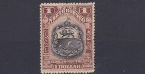 NORTH BORNEO  1911     S G  180  $1   BLACK & CHESTNUT    MH  LIGHTLY TONED