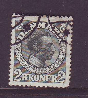 Denmark Sc 133 1913 2 kr Christian X stamp used