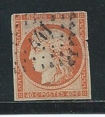 France 7 1849-50 40c Ceres single Good Used (z3)