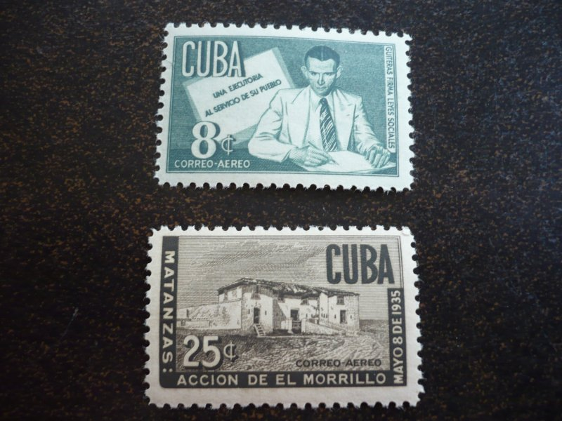 Stamps - Cuba - Scott# 466-468,C47-C49 - Mint Hinged Set of 6 Stamps